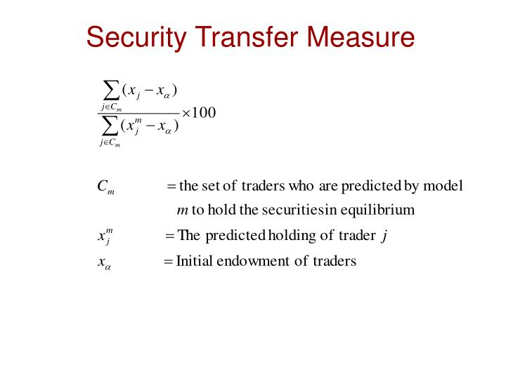 Security Transfer Measure
