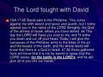 the lord fought with david