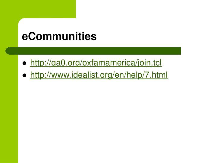 eCommunities