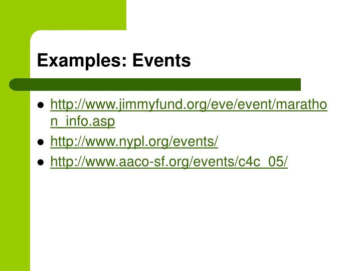Examples: Events