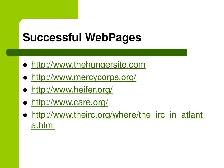 Successful WebPages