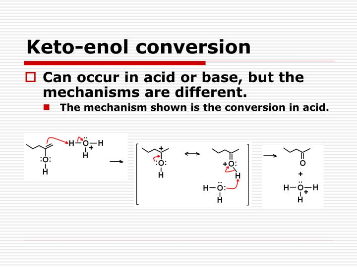 Keto-enol conversion
