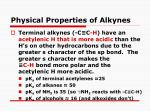 physical properties of alkynes1