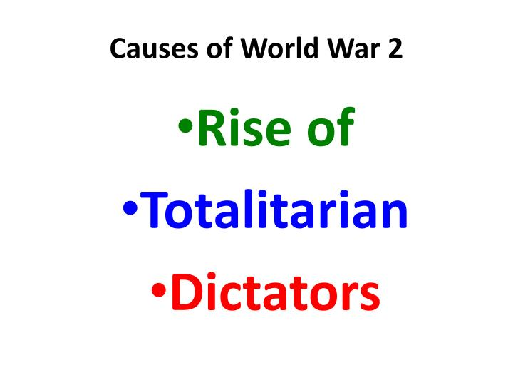 Causes of world war 21