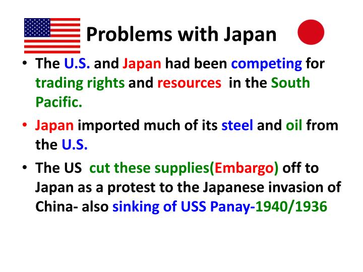 Problems with Japan