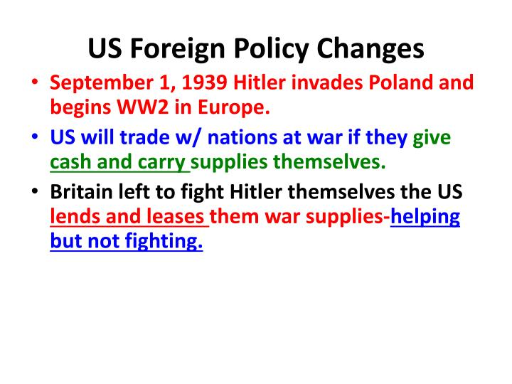 US Foreign Policy Changes