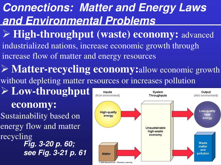 Connections:  Matter and Energy Laws and Environmental Problems