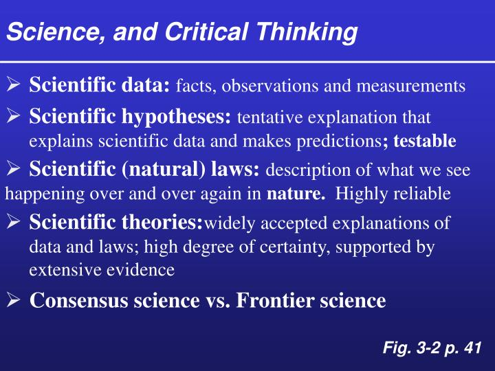 Science, and Critical Thinking