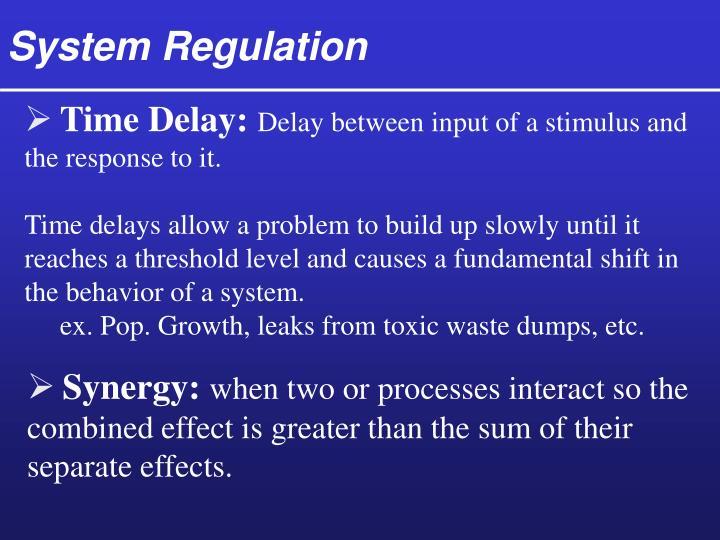 System Regulation