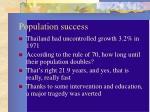 population success