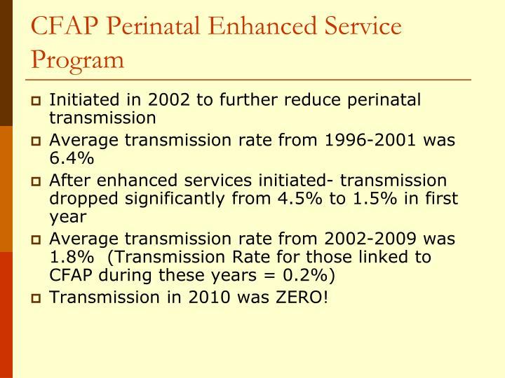 CFAP Perinatal Enhanced Service Program