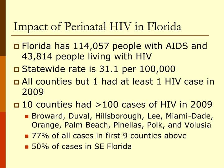 Impact of Perinatal HIV in Florida