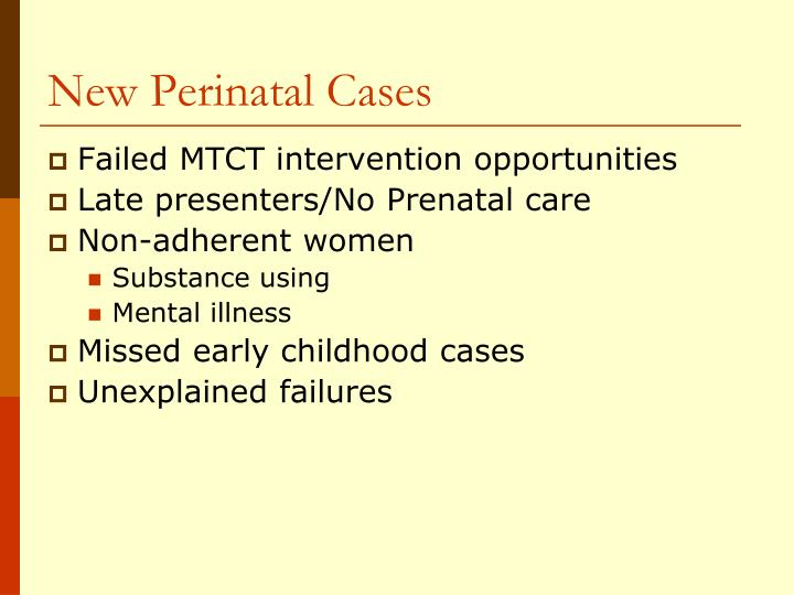 New Perinatal Cases