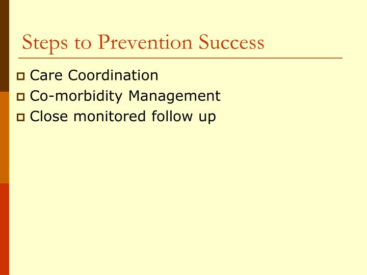 Steps to Prevention Success