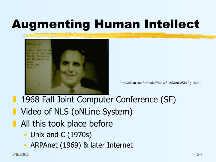 Augmenting Human Intellect
