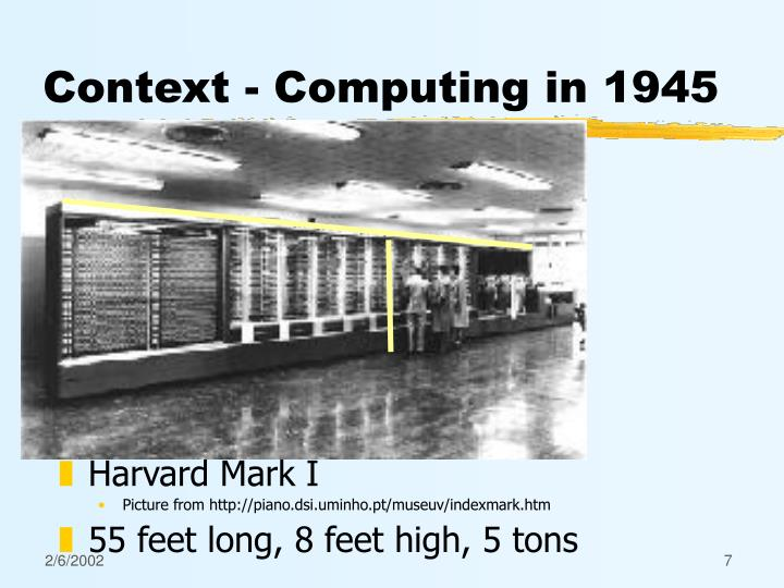 Context - Computing in 1945