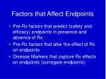 factors that affect endpoints