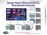design pattern requirements for directed self assembly