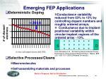 emerging fep applications