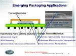 emerging packaging applications
