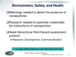 environment safety and health