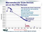 macromolecular scale devices are on the itrs horizon