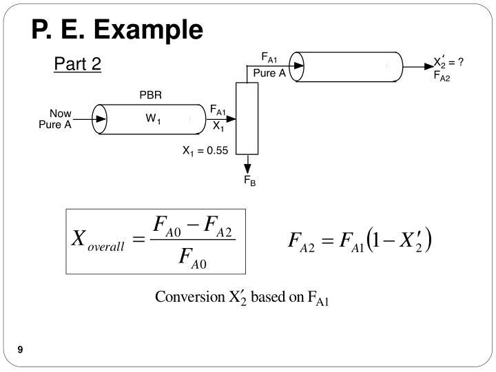 P. E. Example