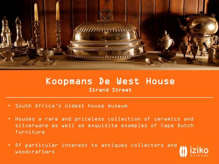 Koopmans De West House