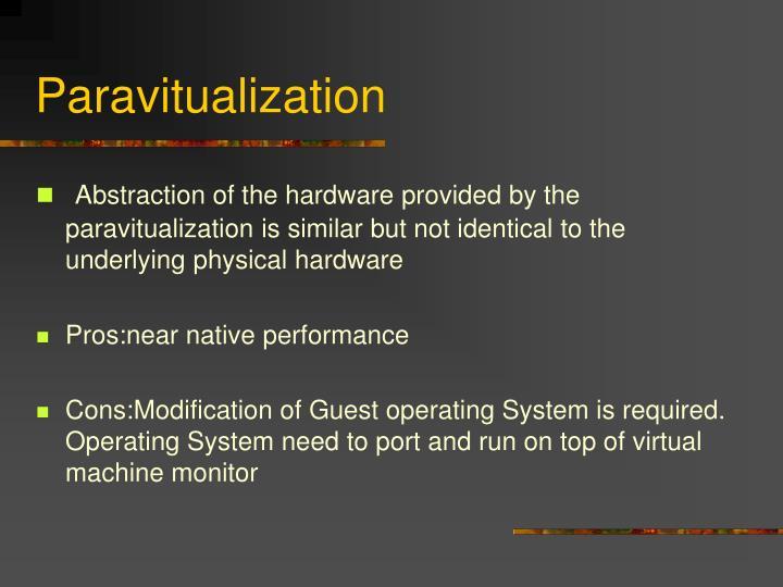 Paravitualization