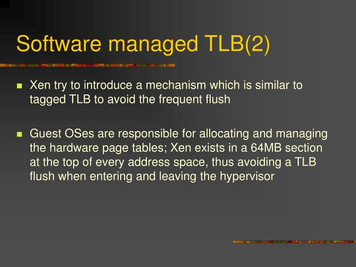 Software managed TLB(2)
