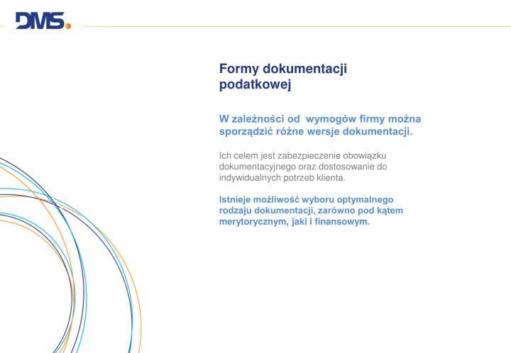 Formy dokumentacji