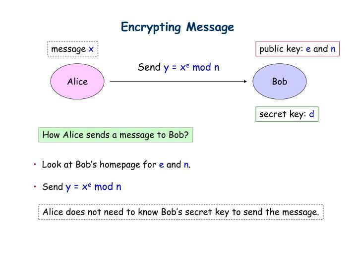 Encrypting Message