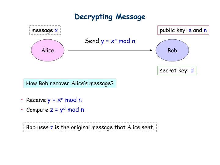 Decrypting Message