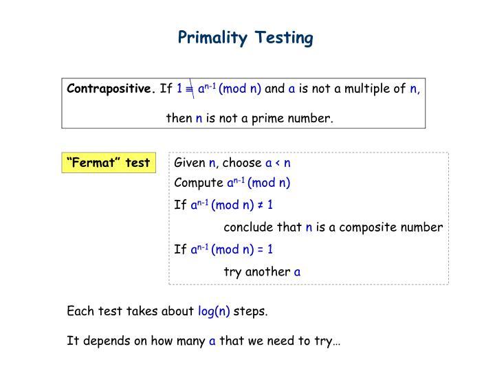 Primality Testing