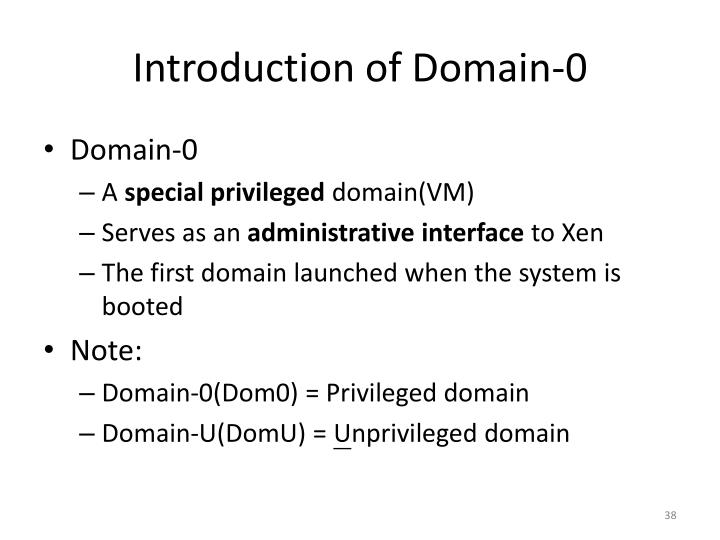 Introduction of Domain-0