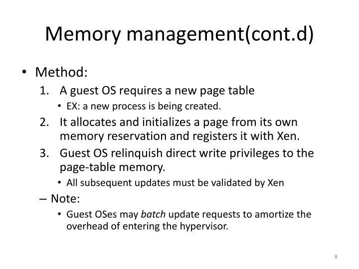 Memory management(