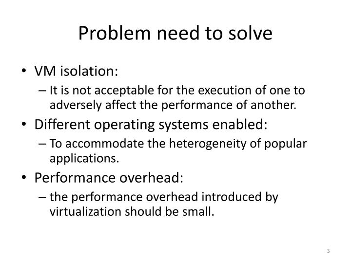 Problem need to solve