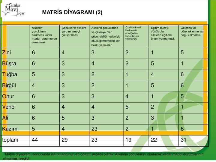 MATRİS DİYAGRAMI (2)