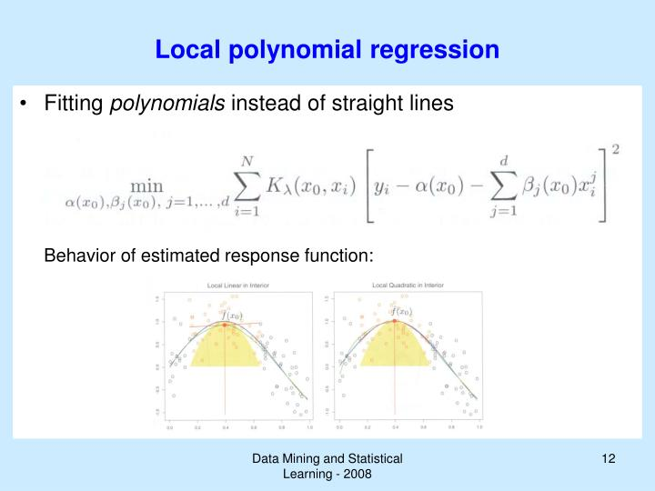 Local polynomial regression