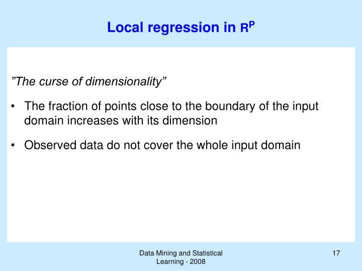 Local regression in