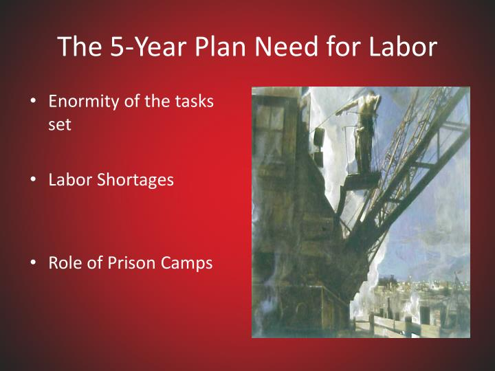 The 5-Year Plan Need for Labor
