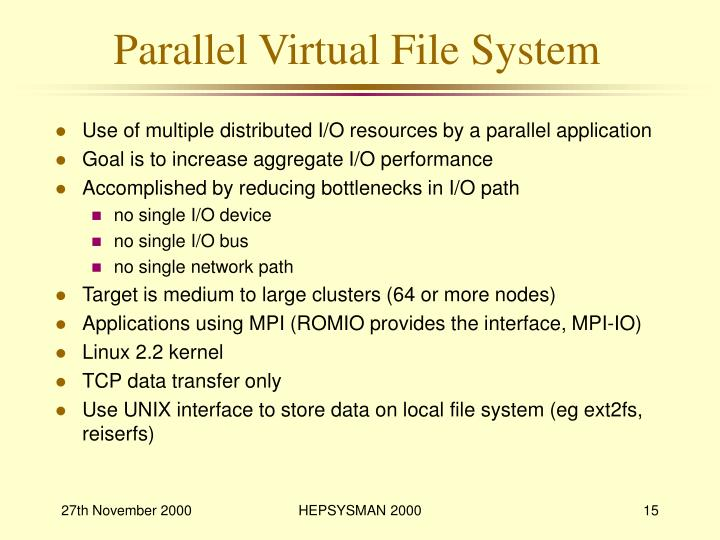 Parallel Virtual File System