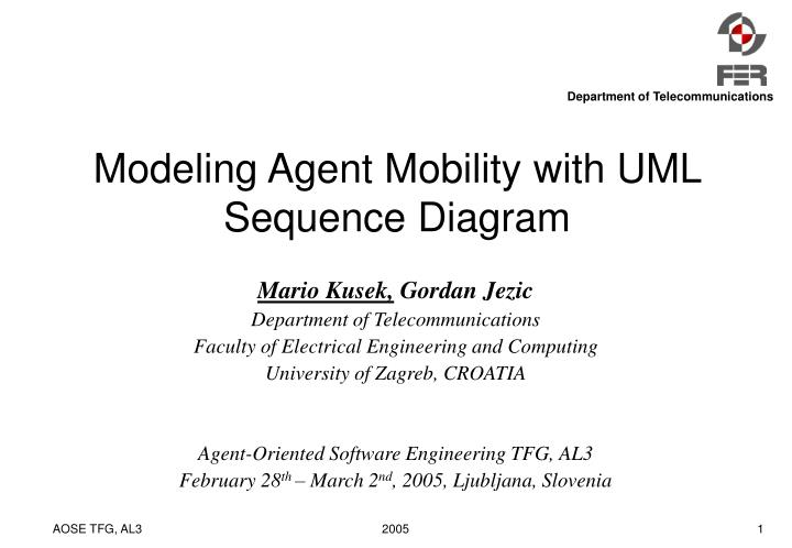 Modeling Agent Mobility with UML Sequence Diagram