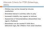 alternate criteria for ptsd scheeringa 20031