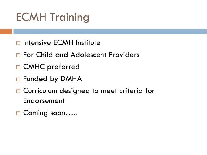 ECMH Training