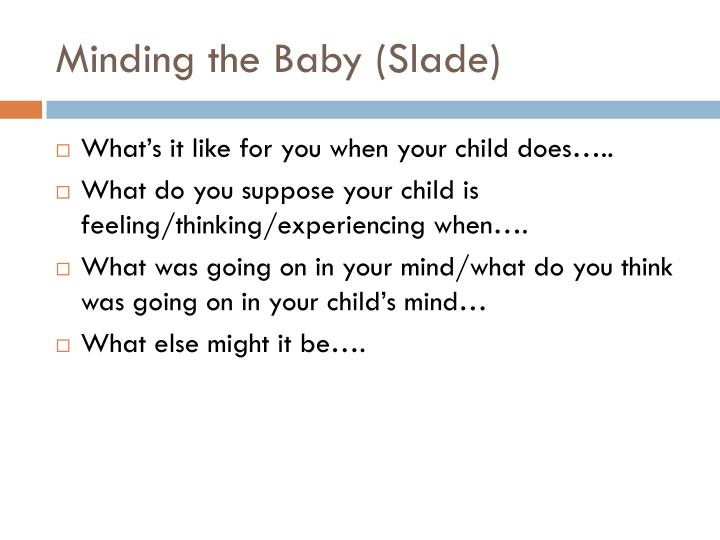 Minding the Baby (Slade)