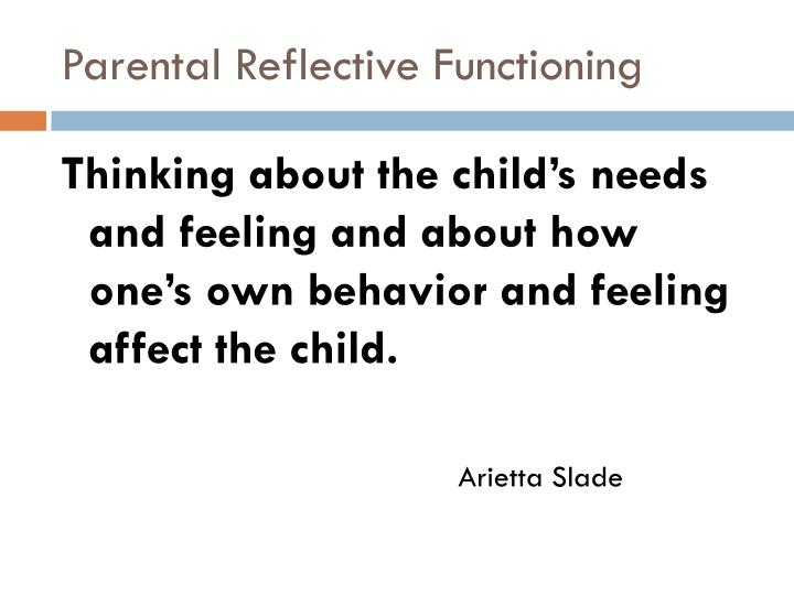 Parental Reflective Functioning