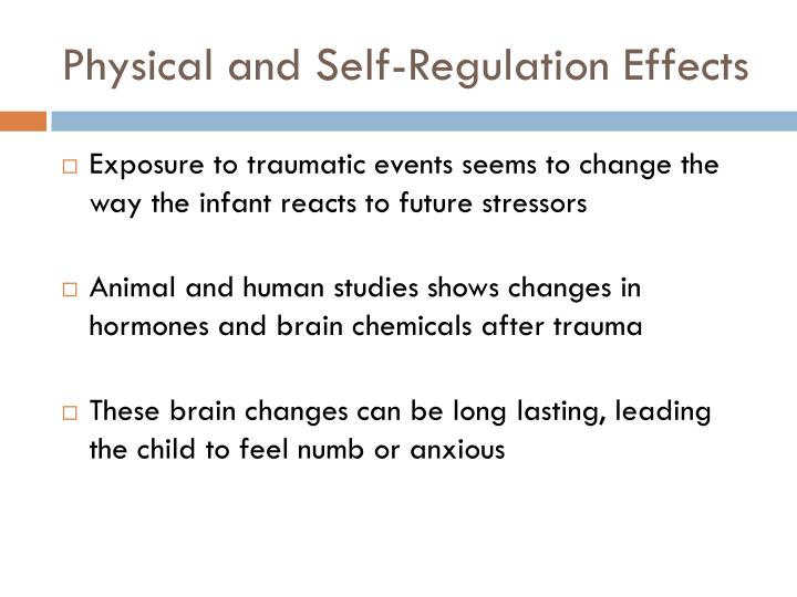 Physical and Self-Regulation Effects
