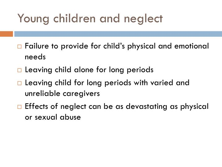 Young children and neglect