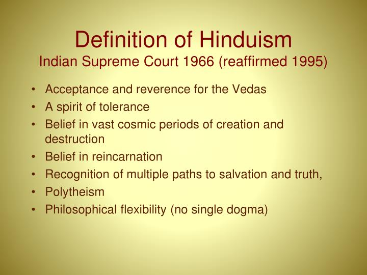 Definition of Hinduism